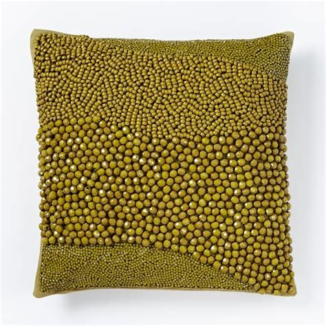 bead pillow chunky beaded pillow cover west elm