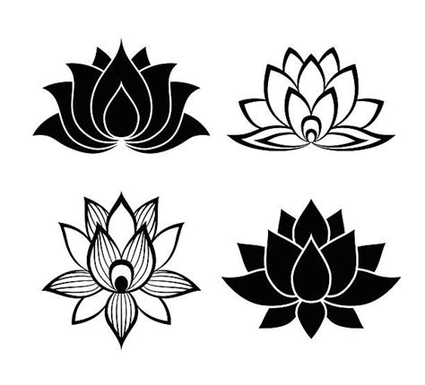 flower tattoo vector free royalty free lotus flower clip art vector images