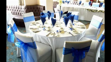 best royal blue and silver wedding decor decorating of party