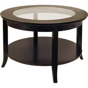 Glass Coffee Table Walmart Genoa Coffee Table With Glass Top Espresso