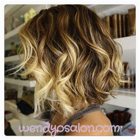 ombre hair color on a bob cute ombre bob w mermaid waves wendyosalon com hair