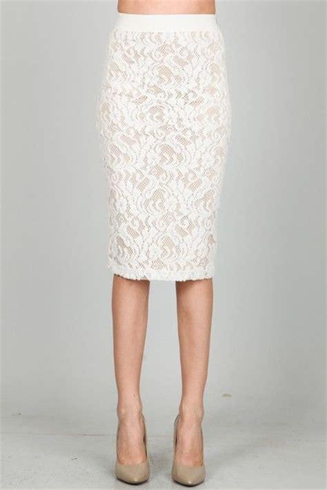 lace pencil skirt white lace