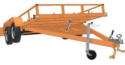 tilt boat trailer designs flatbed tipping trailer plans build your own flatbed