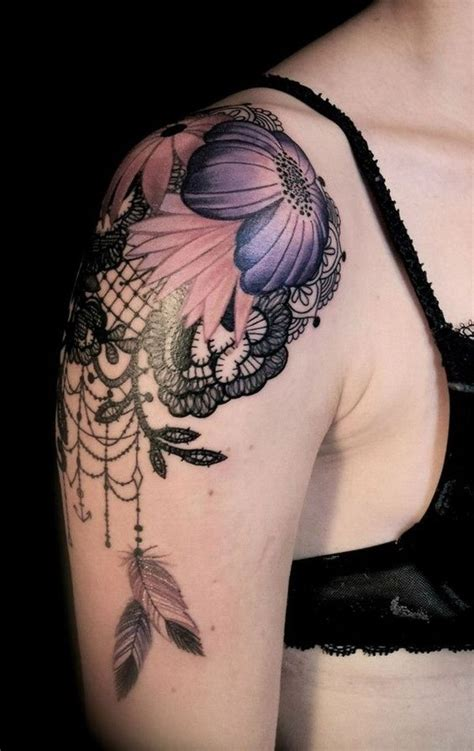 dream catcher tattoo on shoulder 30 lace designs for for creative juice