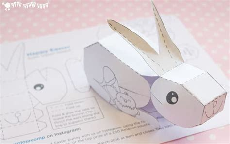 3d easter card templates 3d easter bunny printable craft room