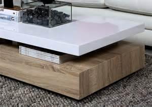 table basse design dessus en bois laqu 233 blanc martens