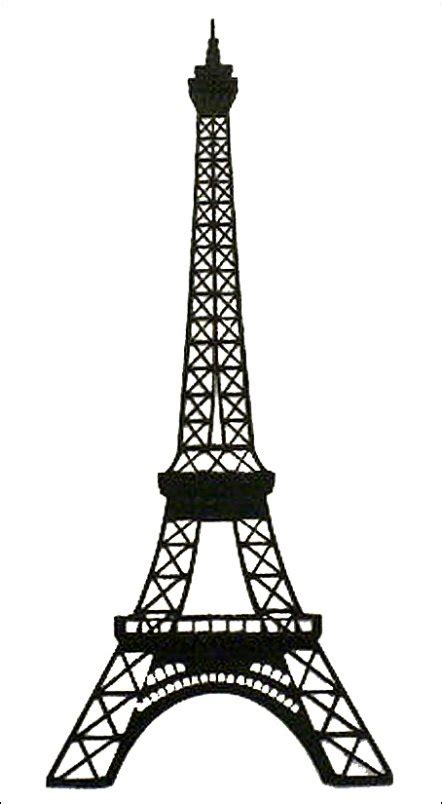 eiffel tower template paper wizard die cuts eiffel tower