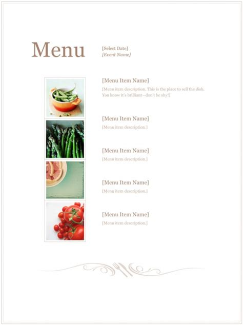 Speisekarten Design Vorlagen Speisekarten Vorlagen Gratis