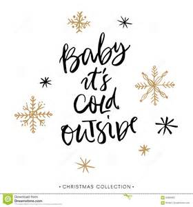 baby it s cold outside christmas greeting card with