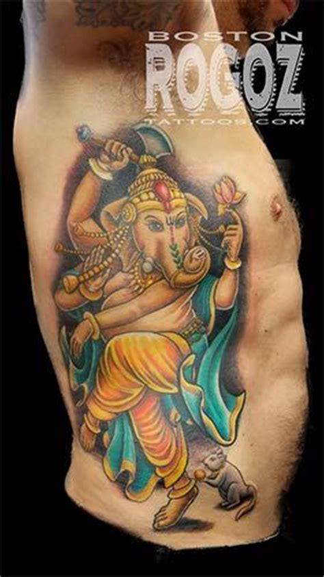 ganesha tattoo ribs ganesh rib tattoo by boston rogoz tattoonow