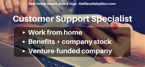 work from home customer support specialist with benefits
