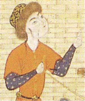 persian miniature painting hats  stringed instruments