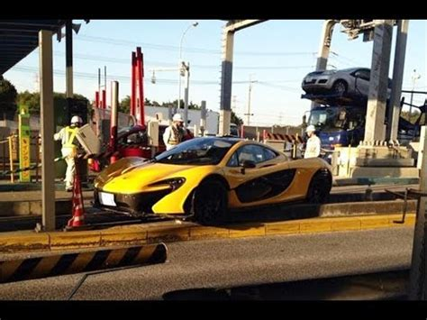 mclaren p1 crash test first mclaren p1 crash in japan news p1のクラッシュ youtube