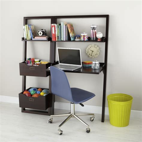 desk for boys desk chocolate leaning wall desk the land of nod