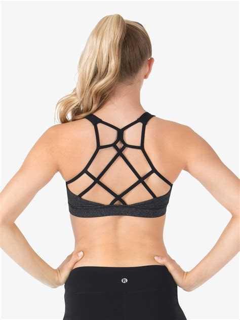 Sport Strappy Bra Top strappy back compression sports bra tops discountdance
