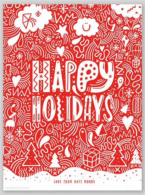 beautiful business christmas cards designs