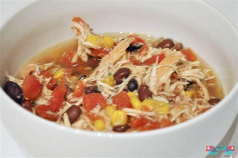 Delicious recipe for crock pot chicken tortilla soup easy to throw