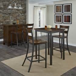 home styles cabin creek 3 square pub table set at