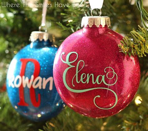glitter ornament diy personalized glitter ornaments