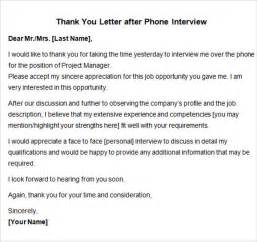 recruiter thank you letter sle thank you note after