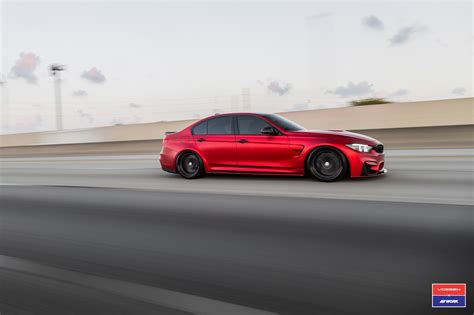 red bmw 2017 2017 bmw m3 facelift in red gets custom vossen wheels