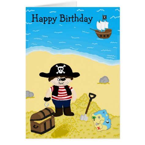 Pirate Birthday Card Pirate Birthday Card Zazzle