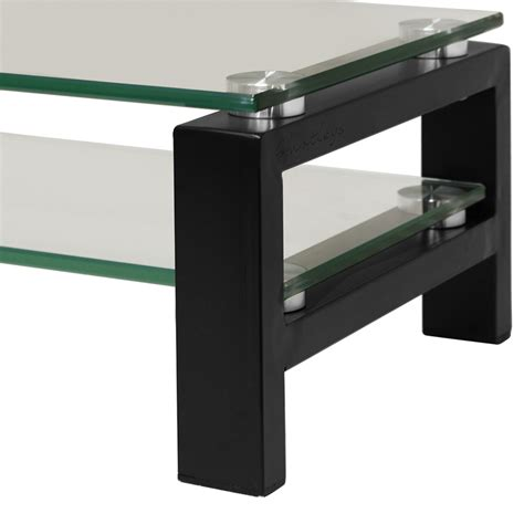 monitor stand cl on glass hartleys 2 tier glass monitor screen riser shelf stand