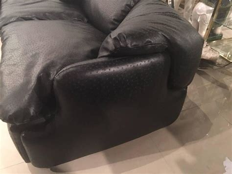 ostrich leather couch saporiti sectional sofa ottomans alberto rosselli 1970s