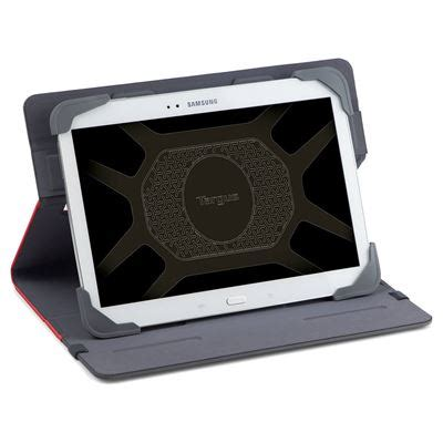 fit n' grip 9 10 inch universal tablet case red