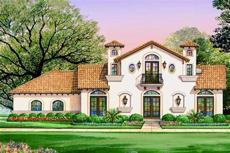 spanish villa house plans luxury spanish villa with 4 bedrooms 36429tx architectural designs house plans