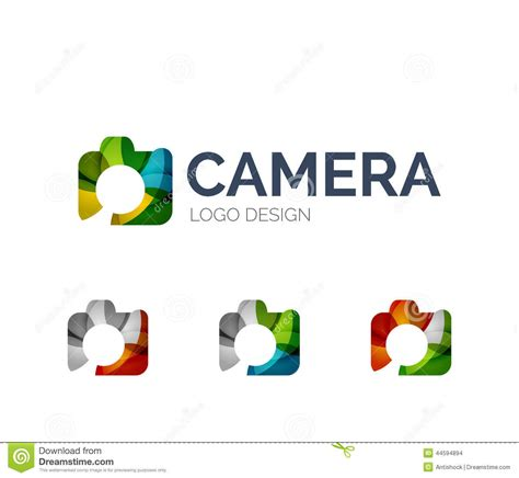 how are colors made logo design made of color pieces stock vector