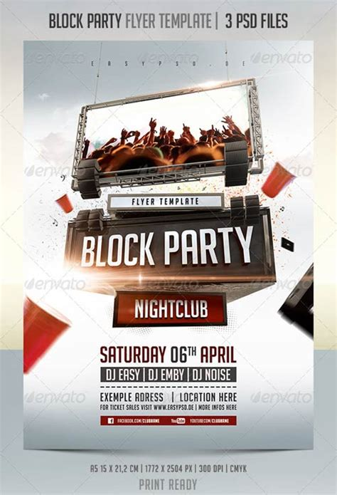 Graphicriver Iii Flyer Template Graphicriver Block Party Flyer Template