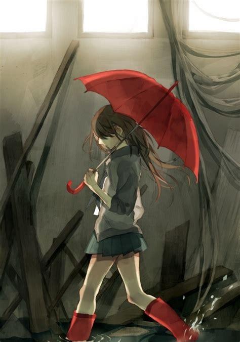Anime Umbrella by With A Umbrella Random Anime