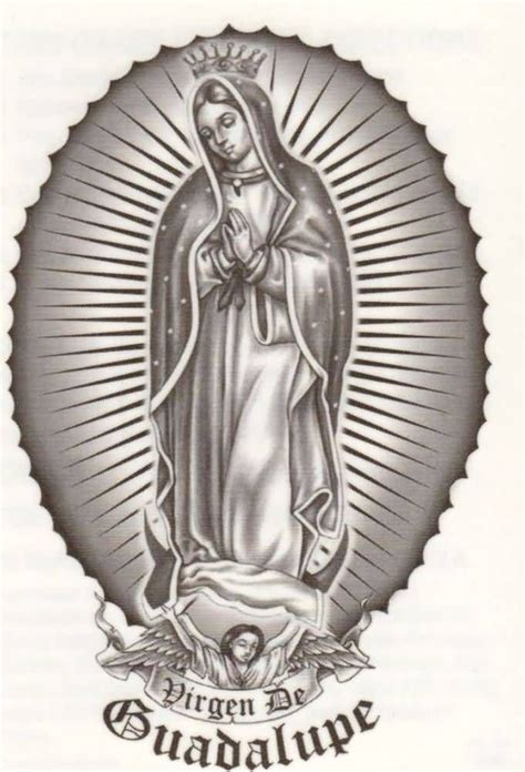 virgen de guadalupe tattoos designs black and grey design художники новая