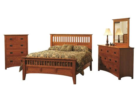 Quarter Sawn Oak Bedroom Furniture Premium Siesta Mission Bedroom Set In Cherry Or Quarter Sawn White