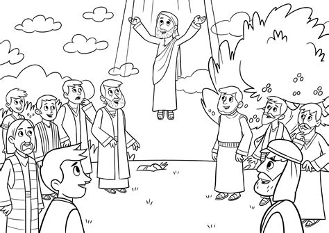coloring pages jesus going to heaven bible memory verse coloring page jesus goes to heaven