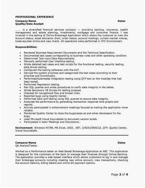 sample qa analyst resume shalomhouse us