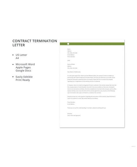 breach employment contract letter sample hq template