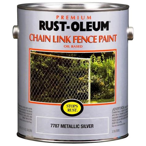 buy the rust oleum 7787402 chain link fence paint metallic silver gallon hardware world