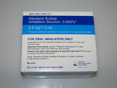 How To Detox From Albuterol by Albuterol Sulfate Inhalation Solution 0 083