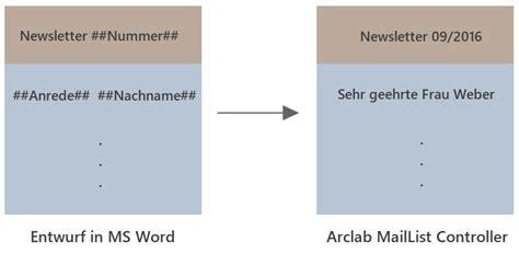 Anrede Bewerbung Mehrere Namen Anleitung Zum Newsletter Programm Newsletter Mit Microsoft Word Erstellen Und Versenden
