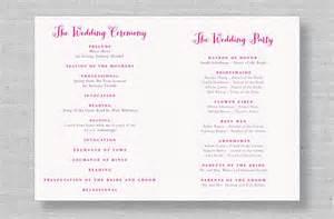 exles of wedding programs templates 2 modern wedding program templates and wording house