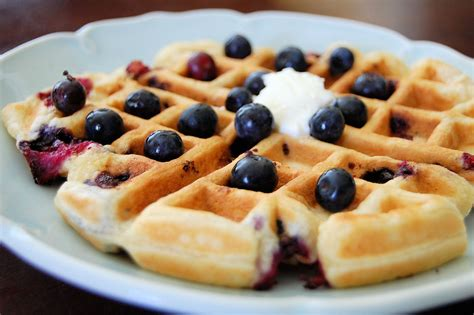 lemon ricotta blueberry waffles kitchen belleicious