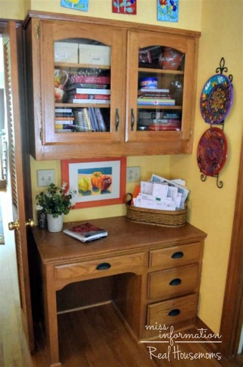 Kitchen Desk Organization Real Housemoms Kitchen Desk Organization