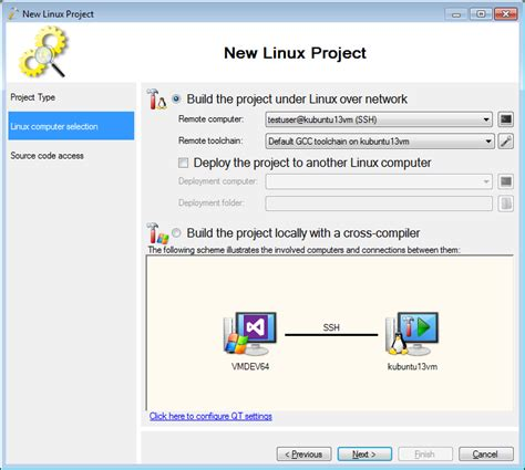 tutorial qt linux creating qt5 projects on ubuntu with visual studio