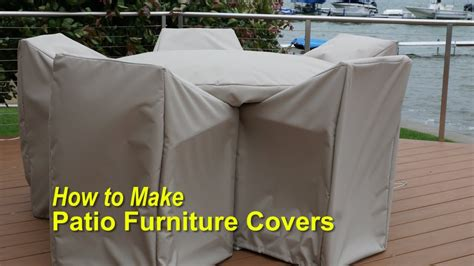 How To Make Cover by How To Make Patio Furniture Covers