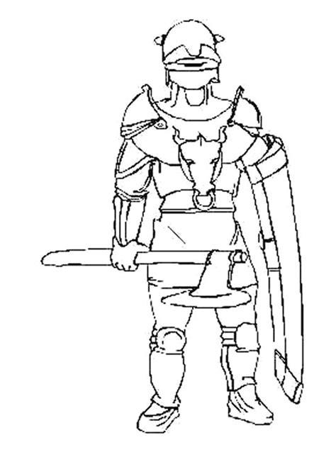 Coloriage GUERRIER chevalier