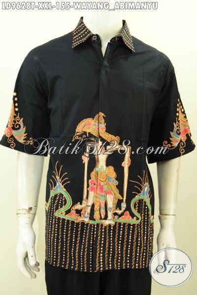 Jual Batik Semata Wayang jual batik hem pria lengan pendek halus proses tulis kwalitas istimewa motif wayang abimanyu big