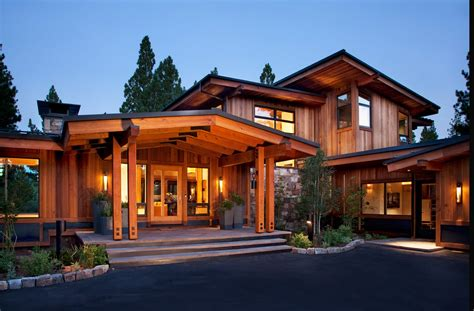 mountain home  characteristic wooden elements  main