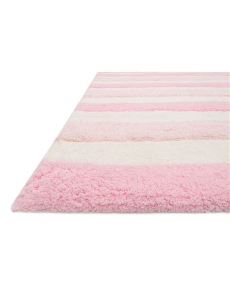 pink striped rug pink stripe lola shag rug by loloi rugs rosenberryrooms